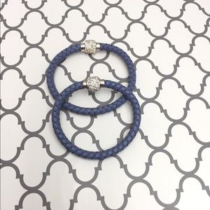 Jewelry - 🆕 Blue braided leather bracelet